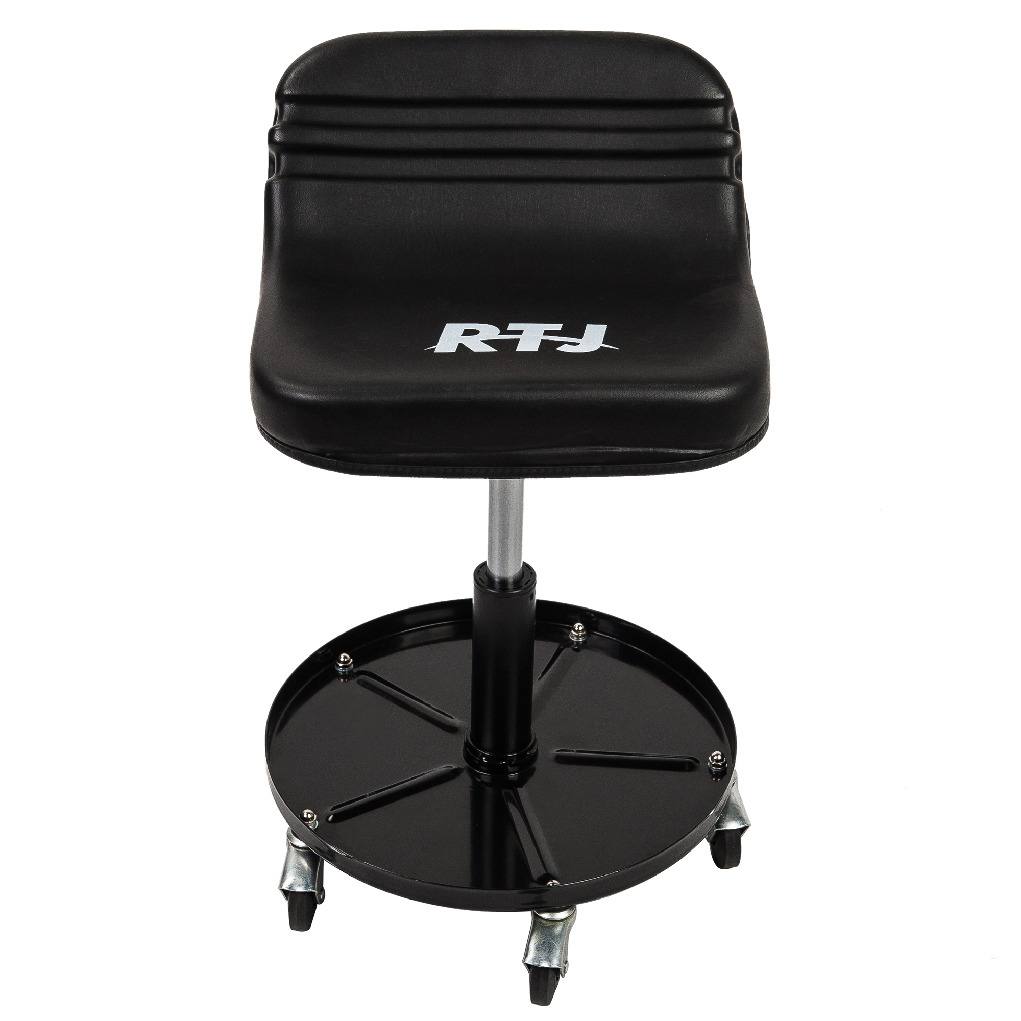 Black RTJ 300 lbs Capacity Tractor Roller Seat Mechanic Rolling Stool
