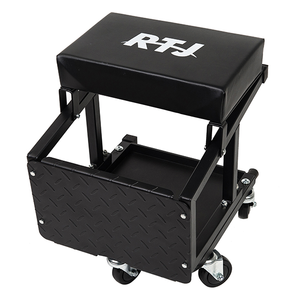 RTJ 400 lbs Capacity Mechanic Roller Seat and Stool Combo , Black
